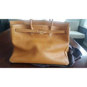 Hermes birkin 40 tan gold tote satchel